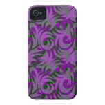 Decoración púrpura y verde de Halloween del remoli iPhone 4 Case-Mate Cobertura