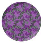 Decoración púrpura y verde de Halloween del remoli Platos
