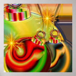 Decoración reflejada ornamento colorido del navida impresiones