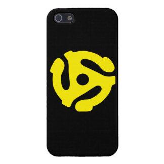 Decoración retra de DJ del espaciador del amarillo iPhone 5 Fundas