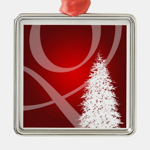Decoración roja elegante del árbol de Navidad del Adorno Navideño Cuadrado De Metal