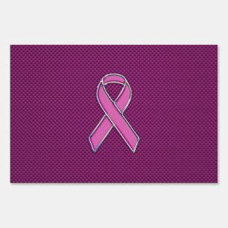 Decoración rosada de la fibra de carbono de la carteles