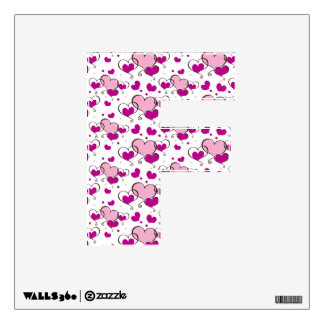 decoración rosada de la pared del monograma F de l Vinilo Decorativo