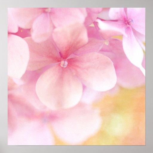 Decoración rosada del arte de la pared del cuarto  impresiones