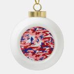 Decoración rosada del ornamento del árbol de navid adornos
