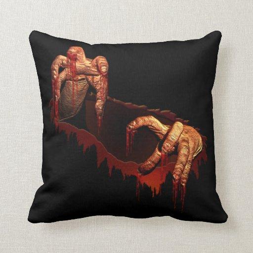 Decoración sangrienta de Halloween de la almohada