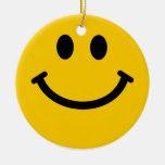 Decoración sonriente amarilla del ornamento de la  adornos de navidad