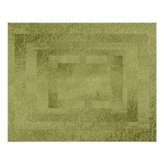 Decoración verde clara de seda del satén artístico póster