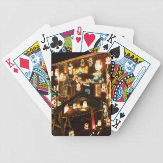 Decoraciones al aire libre del navidad barajas de cartas