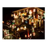 Decoraciones al aire libre del navidad tarjeta postal