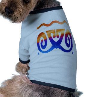 Decoraciones azules 5 del oro n camiseta con mangas para perro