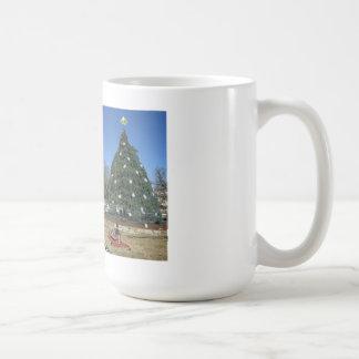 decoraciones blancas del navidad de la casa taza