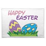 Decoraciones caseras felices de Pascua Mantel