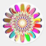 Decoraciones coloridas de Chakra de la rueda FLORA Etiquetas Redondas