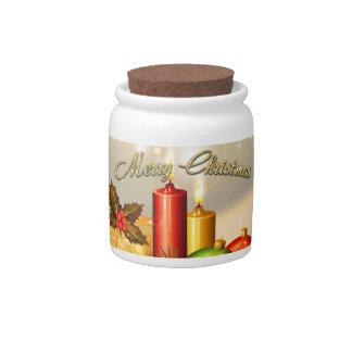 Decoraciones coloridas de la vela de las Felices Jarra Para Caramelo