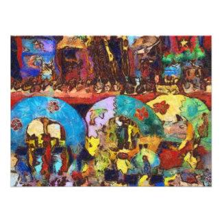 Decoraciones coloridas para arriba para la venta fotografía