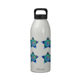 Decoraciones de la ESTRELLA AZUL: Arte NAVIN Joshi Botellas De Agua Reutilizables
