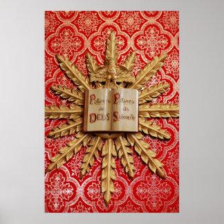 Decoraciones de la iglesia católica póster