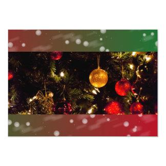 Decoraciones de las bolas del árbol de navidad que comunicados personalizados