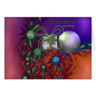 Decoraciones de las felices Navidad Tarjeta De Felicitación