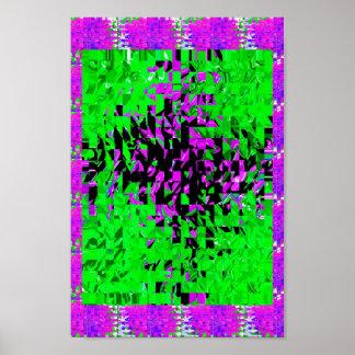 Decoraciones de los gráficos de las flores de los póster