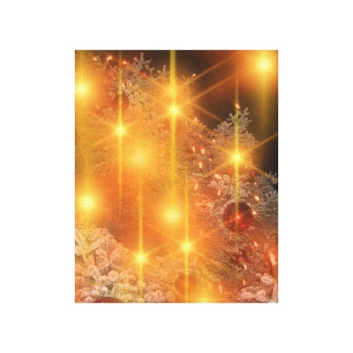 Decoraciones de oro del árbol de navidad del día d impresiones en lona estiradas