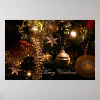 Decoraciones del árbol de navidad posters