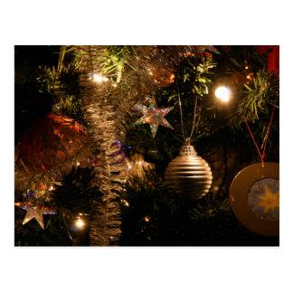 Decoraciones del árbol de navidad tarjeta postal