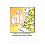 Decoraciones del árbol del dibujo animado del postal