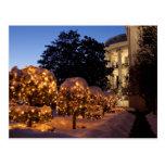 Decoraciones del césped del navidad de la Casa Bla Tarjetas Postales