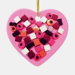 decoraciones del corazón del caramelo ornamente de reyes