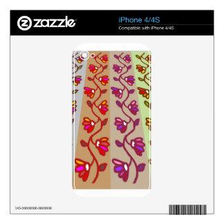 Decoraciones del día de fiesta: Guirnaldas de la f iPhone 4 Skins