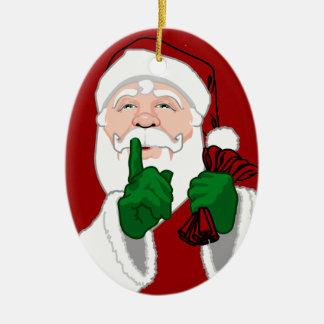 Decoraciones del navidad de Santa del ornamento de Adorno Navideño Ovalado De Cerámica