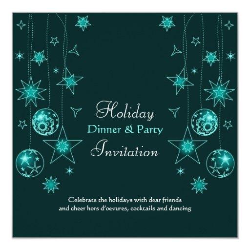 """Decoraciones elegantes de lujo del navidad de la invitación 5.25"""" x 5.25"""""""