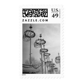Decoraciones en la alta sección de los polos B&W Sellos Postales