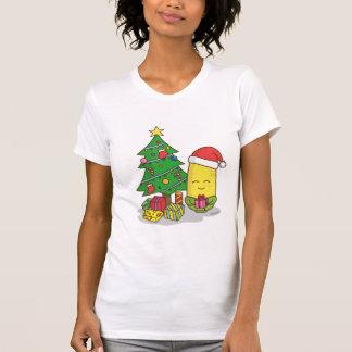 Decoraciones lindas del árbol de navidad del maíz playera
