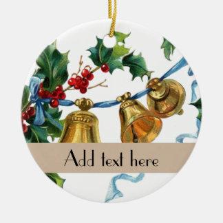 Decoraciones personalizadas de Navidad de las Adorno Navideño Redondo De Cerámica