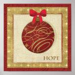 Decoraciones rojas del navidad impresiones