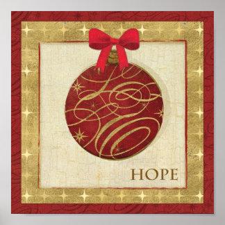 Decoraciones rojas del navidad póster