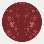 Decoraciones rojas elegantes de lujo del navidad pegatina