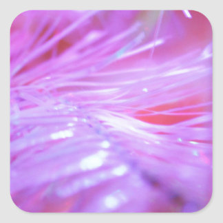Decoraciones rosadas pegatina cuadradas personalizadas