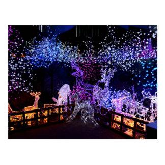 Decoraciones rosadas y púrpuras del navidad al air tarjetas postales