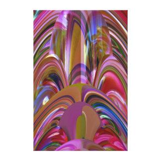 Decoraciones soñadoras coloridas de las impresión en lienzo estirada