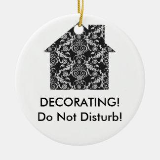Decorador de interiores casero adorno navideño redondo de cerámica