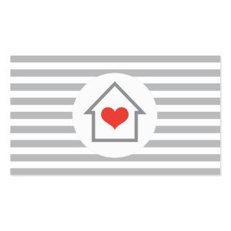 Decorador de interiores del agente inmobiliario de tarjetas de visita