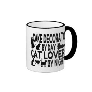 Decorador de la torta del amante del gato taza a dos colores
