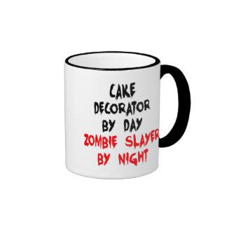 Decorador de la torta del asesino del zombi taza de dos colores