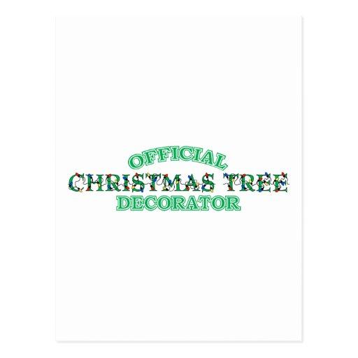Decorador oficial del árbol de navidad postales