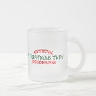 Decorador oficial del árbol de navidad rojo tazas de café