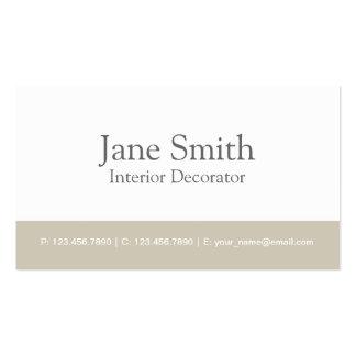 Decorador profesional elegante del diseño interior tarjetas de visita